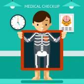 移动健康 mhealth、 诊断和监测的患者使用移动设备 — 图库矢量图片