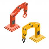 Robot hands. Industrial robotic arms — Stock Vector