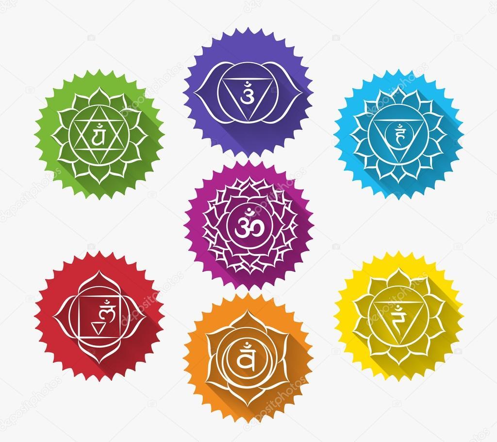 Conjunto de chakras — Vector de stock © neyro2008 #67677019