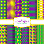 Mardi Gras carnival patterns collection — Stock Vector