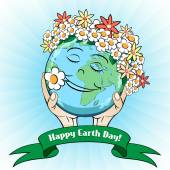 April 22 Earth Day Card — Stock Vector
