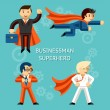 Business superheroes characters — Stock Vector #69936801