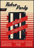 Vector retro party poster — Vetor de Stock