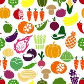 Vegetables and fruits background — Stock Vector