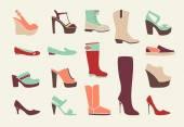 Flat women shoes — Stock Vector