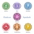 Chakras symbols vector set — Stock Vector #70457551