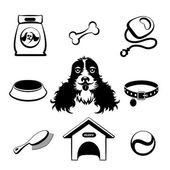 Dog icons set — Stock Vector
