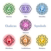 Chakras symbols vector set — Stock Vector