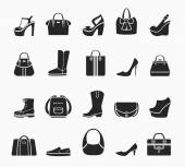 Women bags and shoes — Wektor stockowy