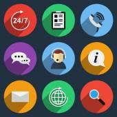 Vector call center icons — Stock Vector
