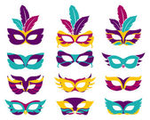 Vector party masks — Cтоковый вектор