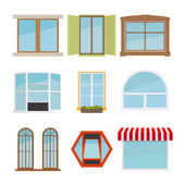 Vektor Planfenster Satz — Stockvektor