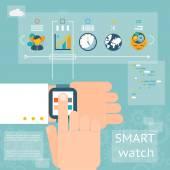 Smart watch — Stock Vector