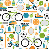 Vector healthy sport pattern background — Stock Vector