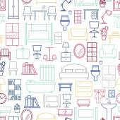 シームレスな家具パターン — ストックベクタ
