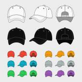 Baseball cap vector template — Stock Vector