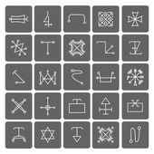 Mystical symbols and sacred signs icons — Stock Vector