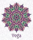 Yoga circular mandala — Stock Vector