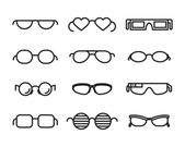 Line  glasses icons — Stock Vector