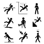 Safety and accident icons — Stock Vector