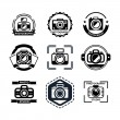 Vintage photography badges or logos — Stock Vector #76869981