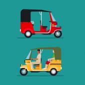 Asian auto rickshaw taxi — Stock Vector