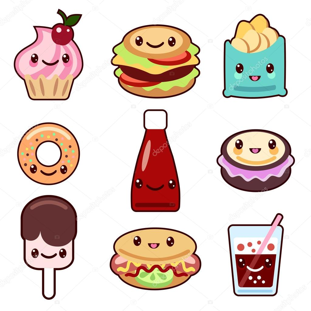 Frutas y comida kawaii archivo im genes vectoriales for Decoration cuisine kawaii