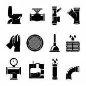 Sewerage icons set — Stock Vector