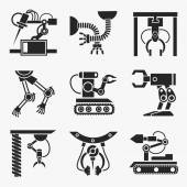 Industrial robot set — Stock Vector