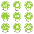 Allergen free products stickers — Stock Vector #79255658