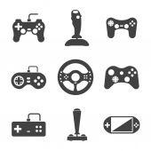 Joystick icons set — Stock Vector