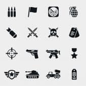 Векторные иконки войны — Cтоковый вектор