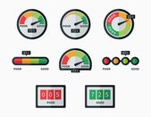 Credit score indicators and gauges vector set — Stock Vector