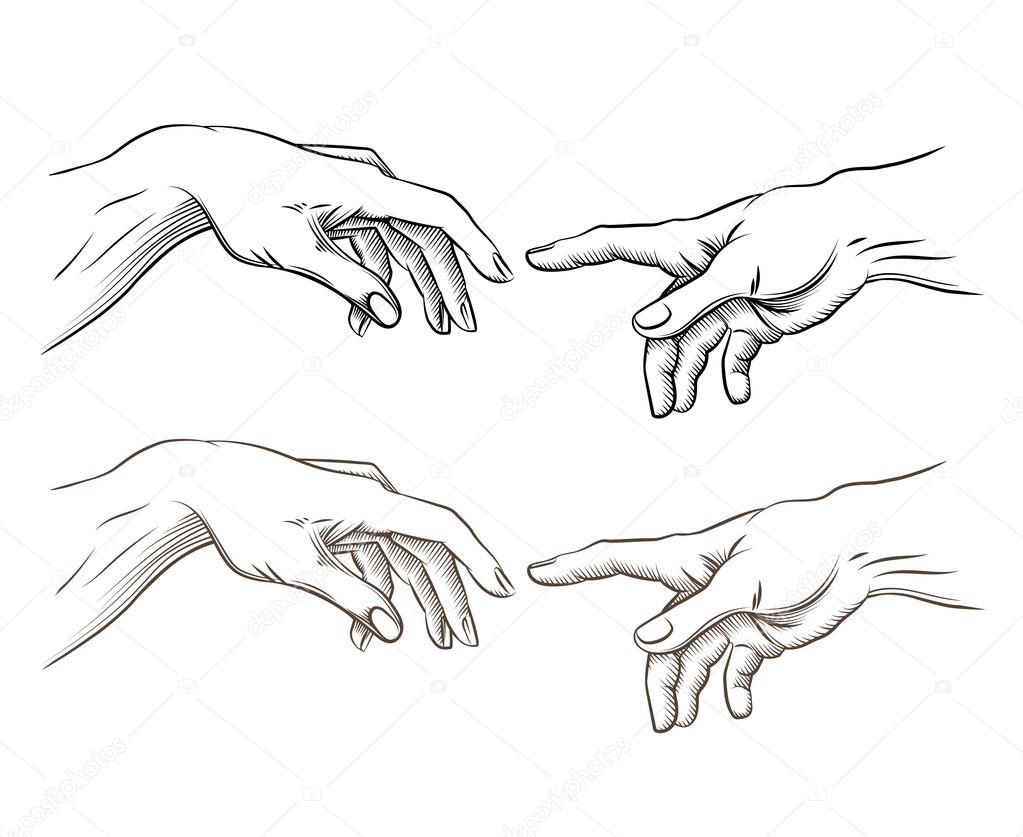 Сотворение адама тату на руке