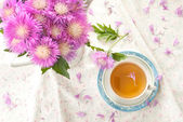 Herbal Cornflower tea — Stock Photo