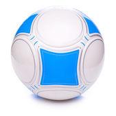 Bola de futebol azul isolada no branco — Fotografia Stock