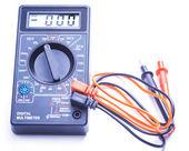 Digital multimeter on white background — Stock Photo