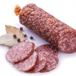 Salami isolated on a white background — Stock Photo #53030129