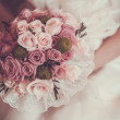 Постер, плакат: Beautiful bouquet in the the brides hands