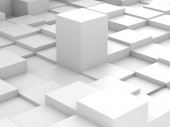 Abstract background of 3d blocks — Stock Photo