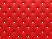 Buttoned red Texture. — Stock Photo