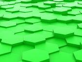 Background of 3d green hexagon blocks — Stockfoto