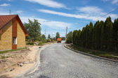 Almost finished road work — Stock Photo
