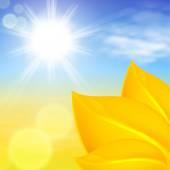 明るい太陽の下で秋の背景 — ストックベクタ
