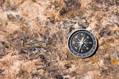 Compass on a stone background — Foto Stock