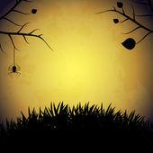 Halloween achtergrond met spin. — Stockvector
