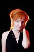 Portrait of redhead woman — Stock Photo