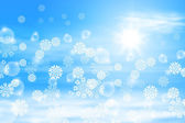 Winter sunny day background — Stock Vector