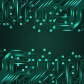Elektronik blå bakgrund med kretskort — Stockvektor