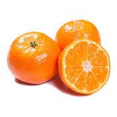 Tangerines isolated on white — Stock Photo